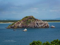 """Sombrero Island,"" I call it, in Stone Island Bay"