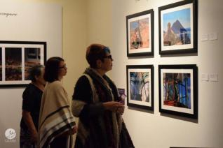Visitors to the gallery opening