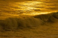 Orange waves at sunset pre-Willa
